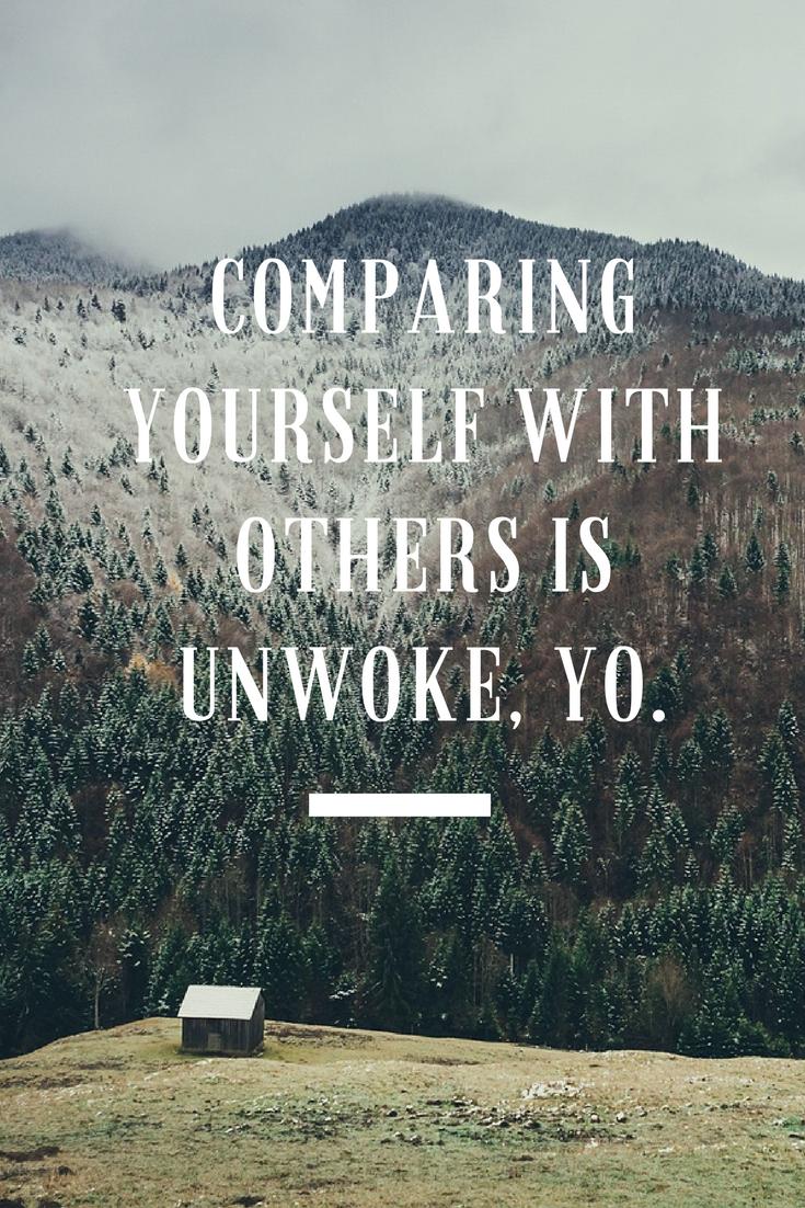 Comparison is a Bitch, Man